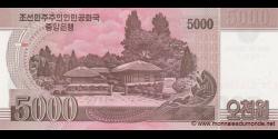 Corée du Nord - p75 - 5.000 Won - 2008 (OP 2012) - Central Bank of the Democratic Peoples Republic of Korea