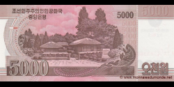 Corée du Nord - pCS17(1) - 5.000 Won - 2008 (OP 2012) - Central Bank of the Democratic Peoples Republic of Korea