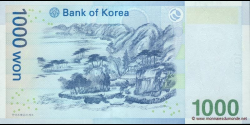 Corée du Sud - p54 - 1.000 Won - ND (2007) - Bank of Korea