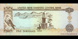 Emirats Arabes Unis - p19a - 5 Dirhams - 2000 - United Arab Emirates Central Bank