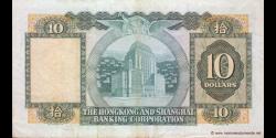 Hong Kong - p182j - 10 Dollars - 21.03.1983 - Hong Kong and Shanghai Banking Corporation