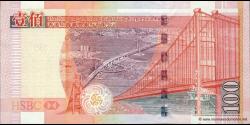 Hong Kong - p209a - 100 Dollars - 01.01.2003 - Hong Kong and Shanghai Banking Corporation Limited
