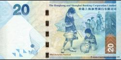 Hong Kong - p212a - 20 Dollars - 01.01.2010 - Hong Kong and Shanghai Banking Corporation Limited