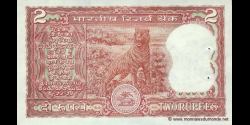 Inde - p053Aa - 2 Roupies - ND (1984 - 1985) - Reserve Bank of India