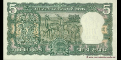 Inde - p055 - 5 Roupies - ND (1970) - Reserve Bank of India