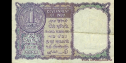 Inde - p075e - 1 Roupie - 1957 - Government of India
