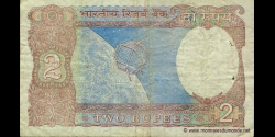 Inde - p079i - 2Roupies - ND (1975 - 1996) - Reserve Bank of India