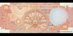 Inde - p082i - 20 Roupies - ND (1970 - 2002) - Reserve Bank of India