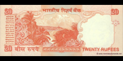 Inde - p089Ab - 20Roupies - ND (2002 - 2006) - Reserve Bank of India