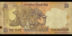 Inde - p089c - 10Roupies - ND (1996 - 2006) - Reserve Bank of India