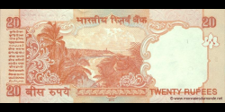 Inde - p096f - 20 Roupies - 2010 - Reserve Bank of India