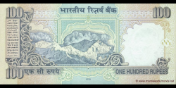 Inde - p098f - 100 Roupies - 2010 - Reserve Bank of India