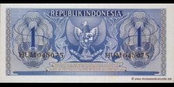 Indonésie - p074 - 1Rupiah - 1956 - Republik Indonesia