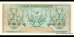 Indonésie - p075 - 2 ½ Rupiah - 1956 - Republik Indonesia