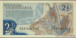 Indonésie - p079 - 2 ½ Rupiah - 1961 - Republik Indonesia