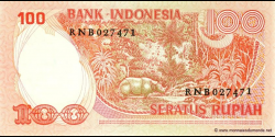Indonésie - p116 - 100 Roupies - 1977 - Bank Indonesia