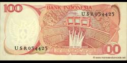 Indonésie - p122a - 100 Roupies - 1984 - Bank Indonesia