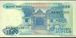 Indonésie - p124 - 1.000 Roupies - 1987 - Bank Indonesia