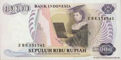 Indonésie - p126 - 10.000 Roupies - 1985 - Bank Indonesia