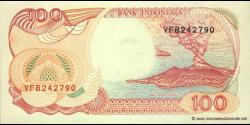 Indonésie - p127g - 100 Roupies - 1992 / 1999 - Bank Indonesia