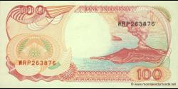 Indonésie - p127h - 100 Roupies - 1992 / 2000 - Bank Indonesia