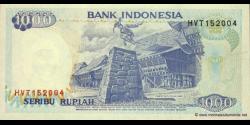 Indonésie - p129d - 1.000 Roupies - 1992 / 1995 - Bank Indonesia