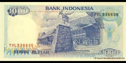 Indonésie - p129i - 1.000 Roupies - 1992 /2000 - Bank Indonesia