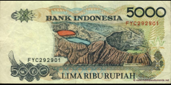 Indonésie - p130i - 5.000 Roupies - 1992 / 2000 - Bank Indonesia
