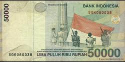 Indonésie - p139a - 50.000 Roupies - 1999 - Bank Indonesia