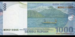 Indonésie - p141j - 1.000 Roupies - 2009 - Bank Indonesia