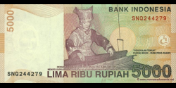 Indonésie - p142a - 5.000 Roupies - 2001 - Bank Indonesia
