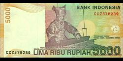 Indonésie - p142g - 5.000 Roupies - 2001 / 2007 - Bank Indonesia