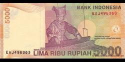 Indonésie - p142i - 5.000 Roupies - 2001 / 2009 - Bank Indonesia