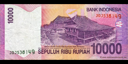 Indonésie - p143a - 10.000 Roupies - 2005 - Bank Indonesia