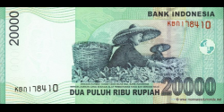 Indonésie - p144a - 20.000 Roupies - 2004 - Bank Indonesia