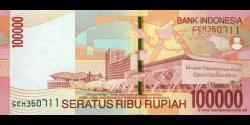 Indonésie - p146e - 100.000 Roupies - 2009 - Bank Indonesia