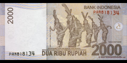 Indonésie - p148a - 2.000 Roupies - 2009 - Bank Indonesia