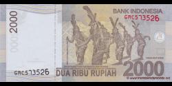 Indonésie - p148f - 2.000 Roupies - 2014 - Bank Indonesia