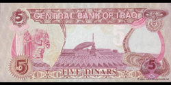 Iraq - p80a - 5 Dinars - 1992 - Central Bank of Iraq