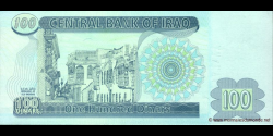 Iraq - p87 - 100 Dinars - 2002 - Central Bank of Iraq
