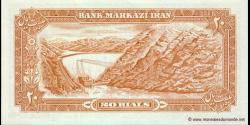 Iran - p100a2 - 20Rials - ND (1974 - 1979) - Bank Markazi Iran