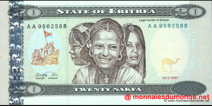 Érythrée - p04 - 20 nakfa - 24.05.1997 - Bank of Eritrea