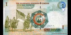 Jordanie - p34a - 1 Dinar - 2002 - Central Bank of Jordan