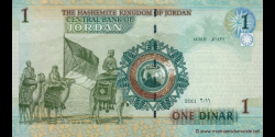 Jordanie - p34f - 1 Dinar - 2011 - Central Bank of Jordan