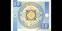 Kirghizistan - p03 - 50 Tyiyn - ND (1993) - Kyrgyz Respublikasy