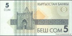 Kirghizistan - p05 - 5Som - ND (1993) - Kyrgyzstan Banky