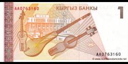 Kirghizistan - p07 - 1Som - ND (1994) - Kyrgyz Banky
