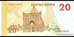 Kirghizistan - p10 - 20Som - ND (1994) - Kyrgyz Banky