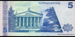 Kirghizistan - p13 - 5Som - 1997 - Kyrgyz Banky