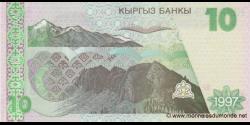 Kirghizistan - p14 - 10Som - 1997 - Kyrgyz Banky